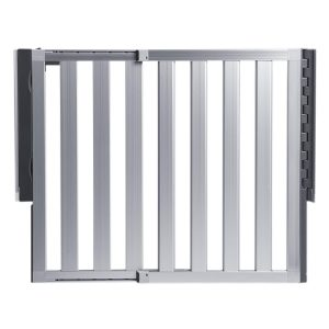 metal baby gate with door